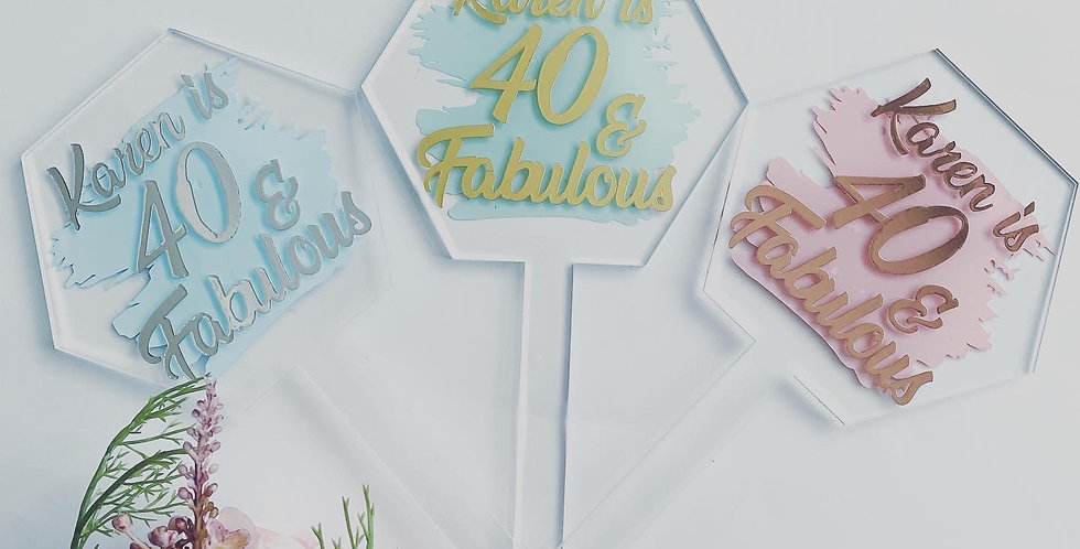 Personalised Milestone Cake Topper