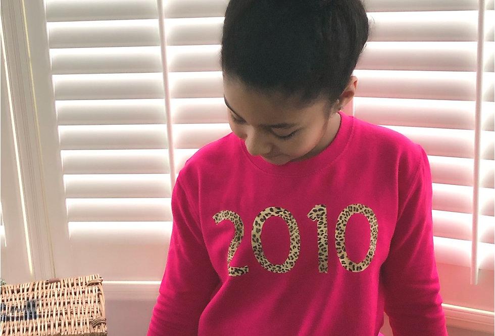Children's Birth Year Sweatshirt