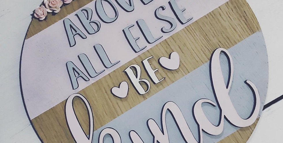 Be Kind Wooden Plaque