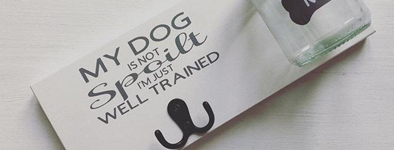 Personalised Dog Treat & Lead Holder