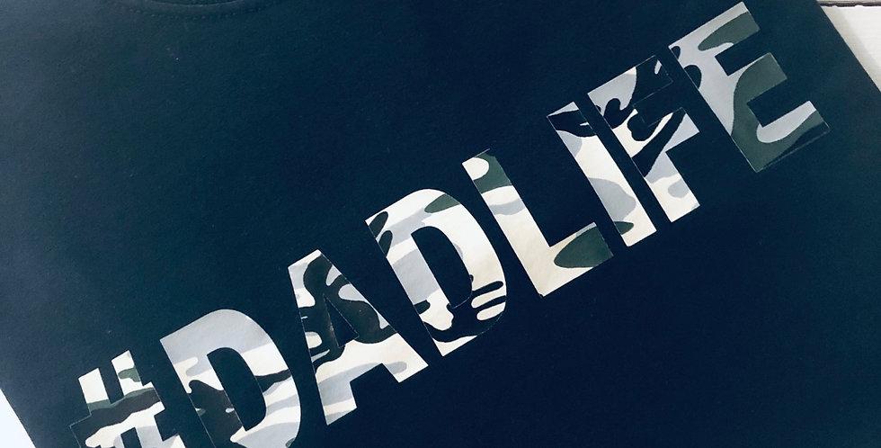 Dad Life Camoflauge Print T Shirt