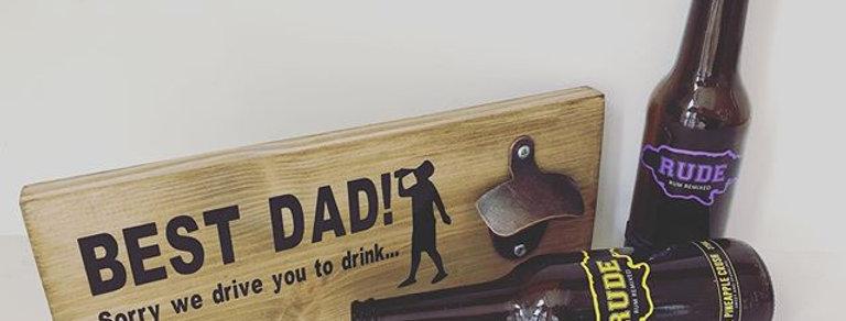 Best Dad Bottle Opener Plaque