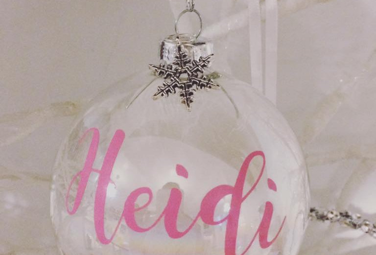 Personalised Glass Name Bauble