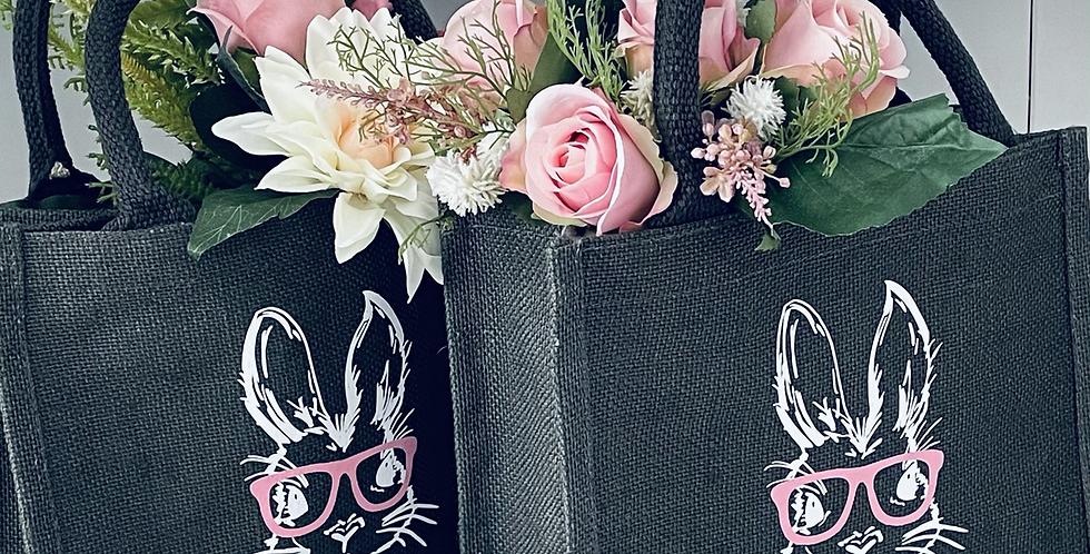 Personalised Easter Bunny Jute Bag