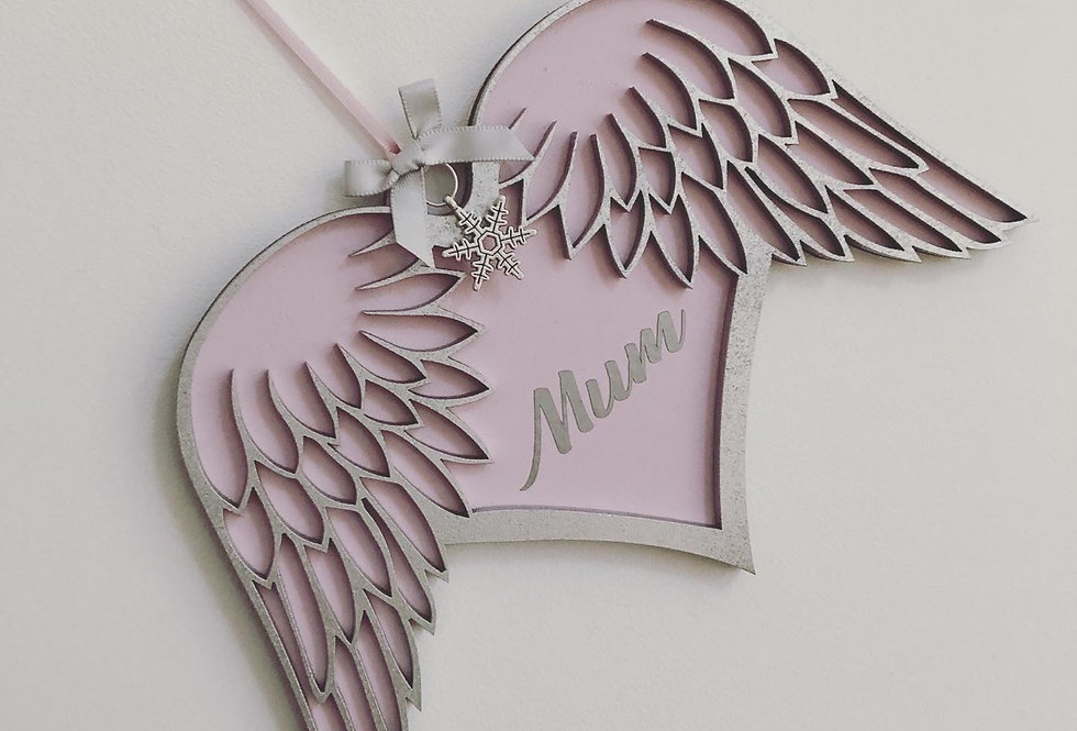 Personalised Angel Wings Decoration