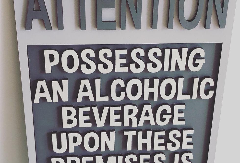 Humorous Alcohol Wooden Plaque