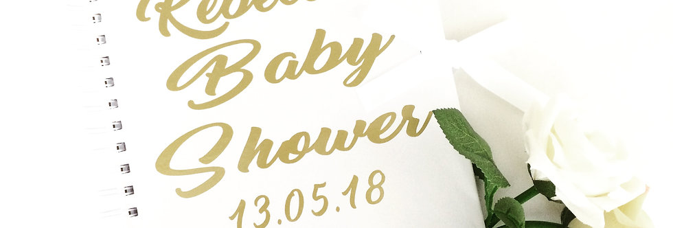 Personalised Baby Shower Journal