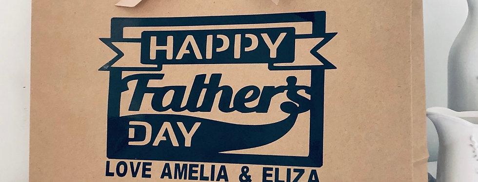 Personalised Father's Day Eco Friendly Gift Bag