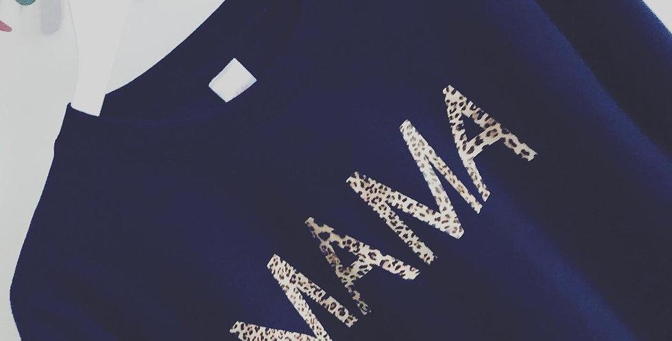 French Navy 'MAMA' Sweatshirt