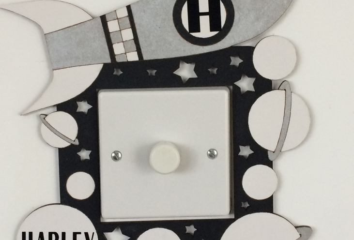 Personalised Space Light Switch Surround