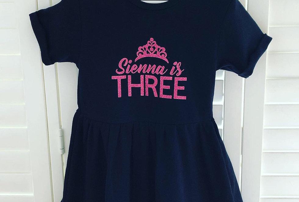 Custom Text Birthday Dress