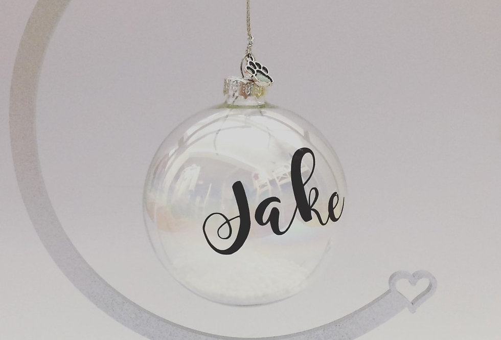 Personalised Name Bauble and Stand Set