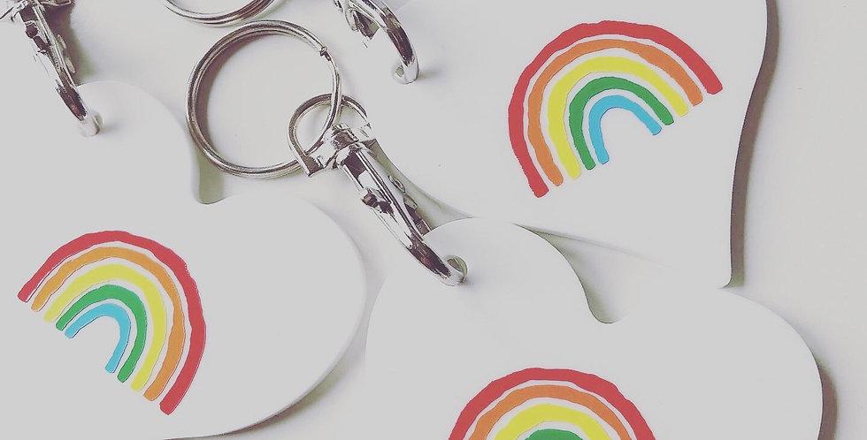 Personalised Rainbow Acrylic Keyring