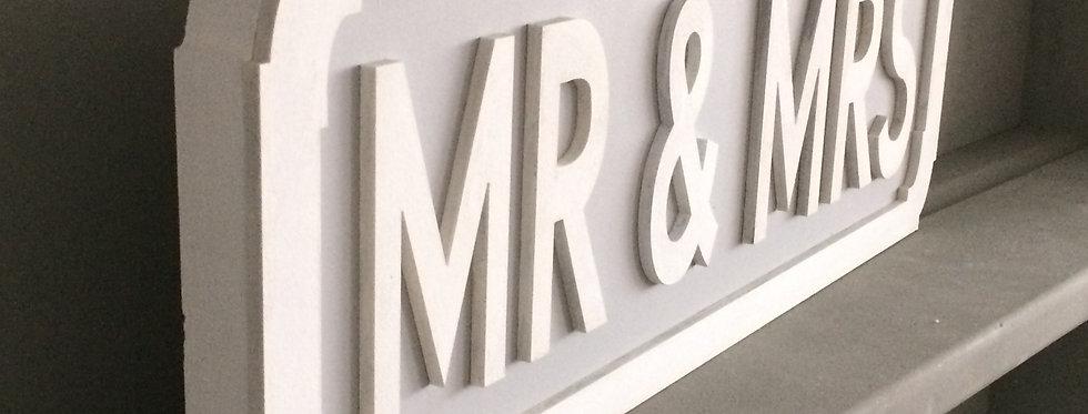 Handpainted Mr & Mrs Freestanding Street Sign
