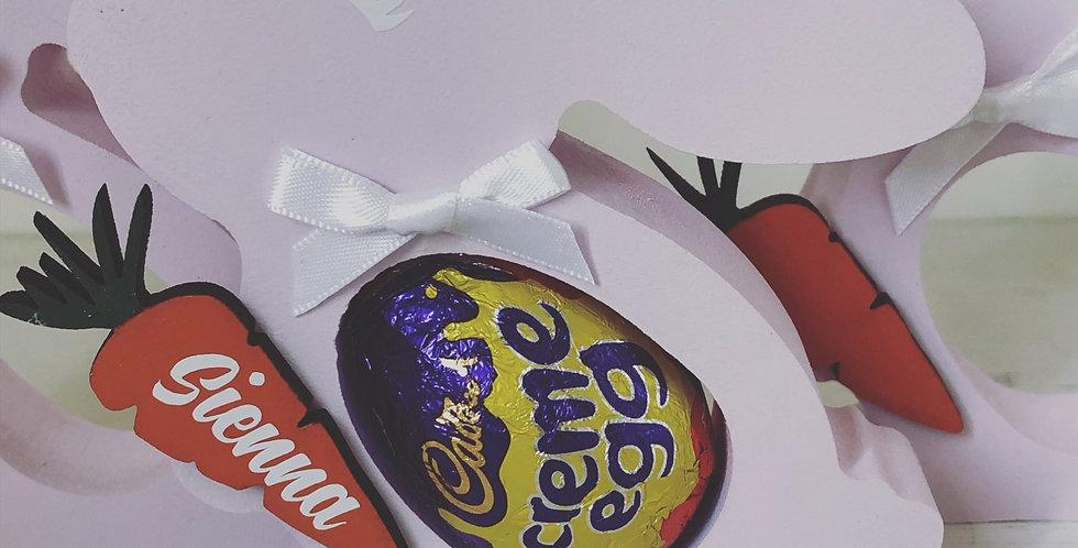 Personalised Bunny Cream Egg Holder