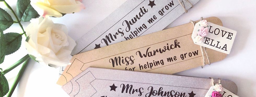 Freestanding Personalised Wooden Teacher Pencil