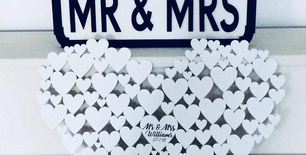 Wooden Heart Wedding Guest Book/Milestone Birthday Gift