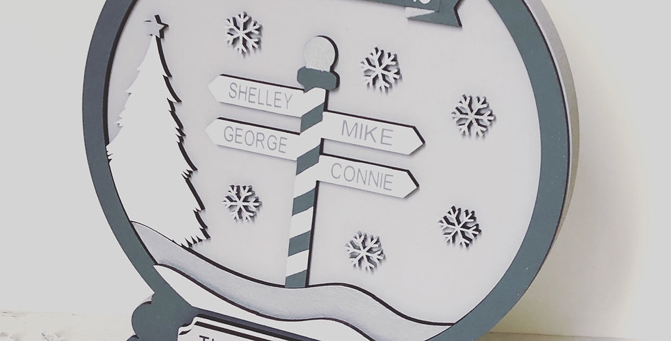 Personalised Wooden Freestanding Snow Globe