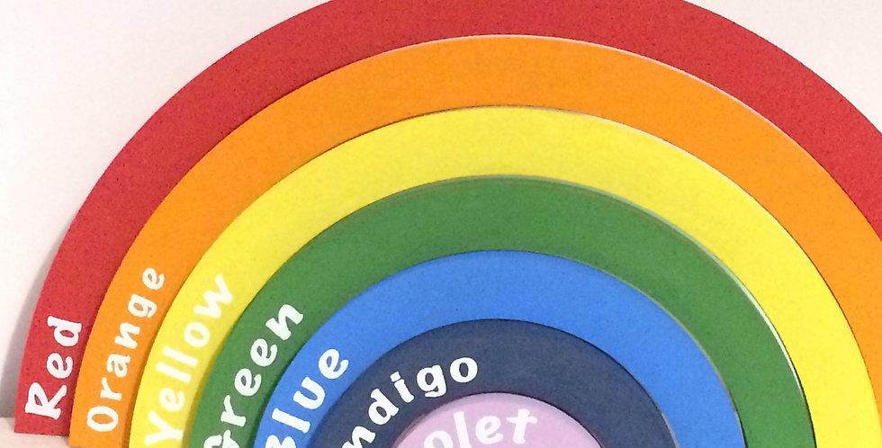 7 piece Interlocking, Freestanding, Rainbow Shelfie