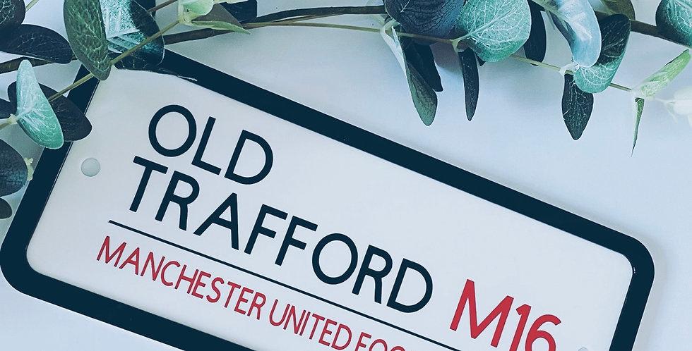 Football Themed Acrylic Street Sign