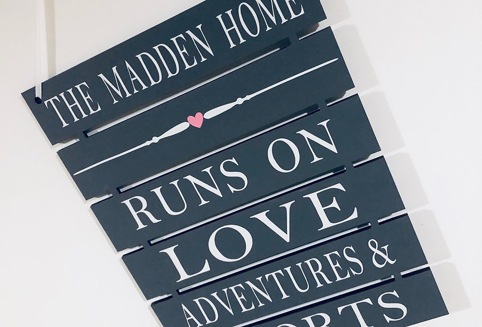 Personalised Family Home Sign