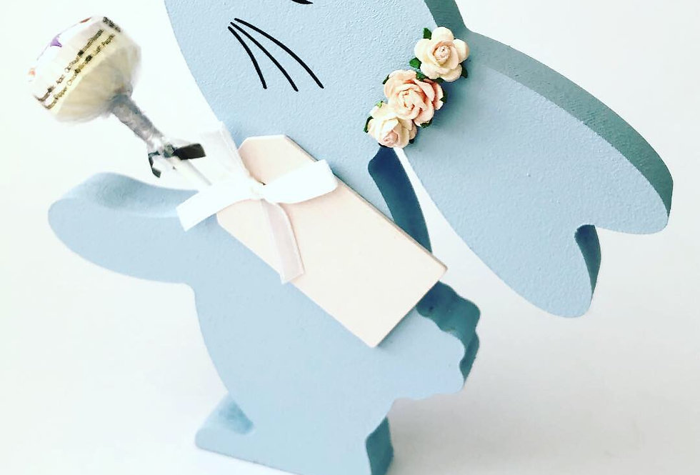Personalised Bunny Lolly Holder