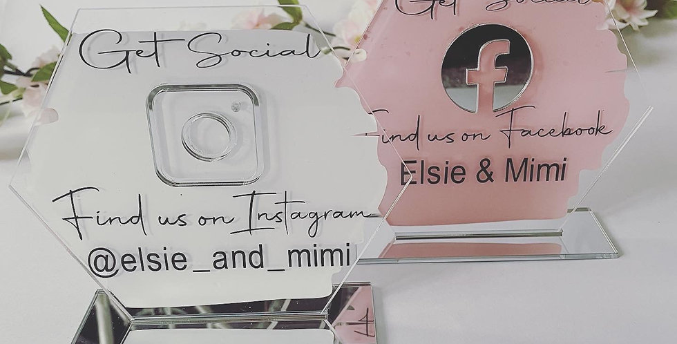Acrylic Social Media Signs