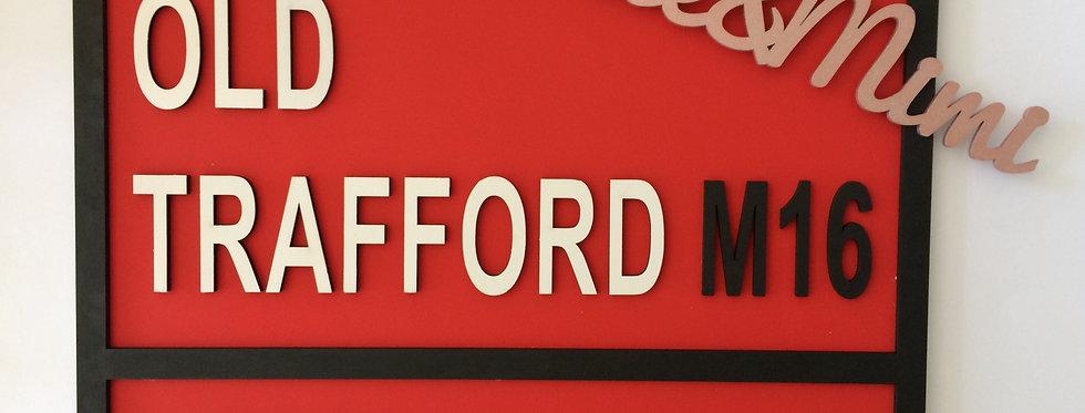 Custom Made Football Street Sign