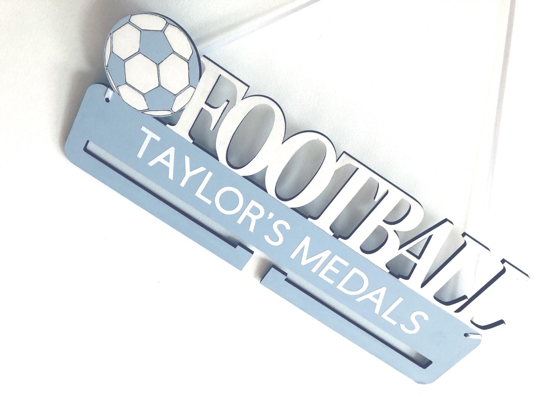 Thumbnail: Custom Made Football Medal Holder