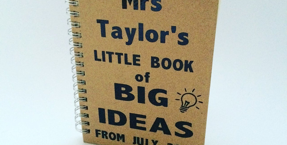 Personalised 'Big Ideas' Notebook A6