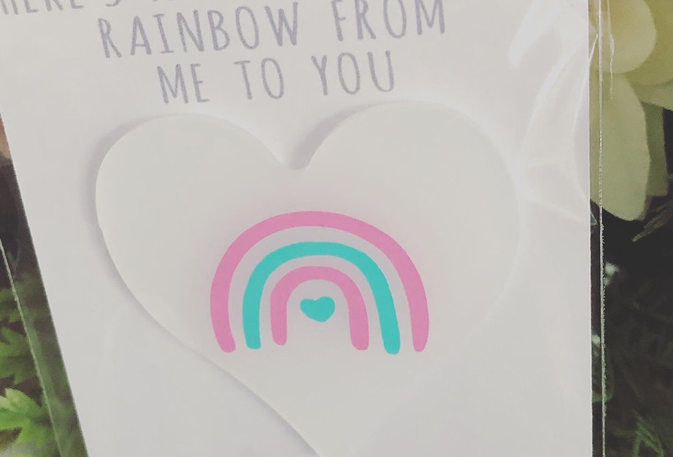 Acrylic Pocket Rainbow With Quote