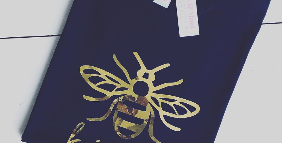 'Just Bee Kind' Mirrored Gold Clothing Range
