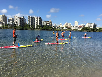 Paddle Boarding Condado next to Velauno