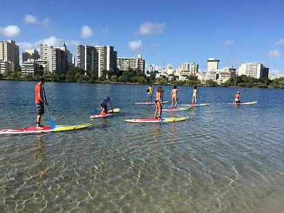 Paddle Boarding Condado next to Velauno