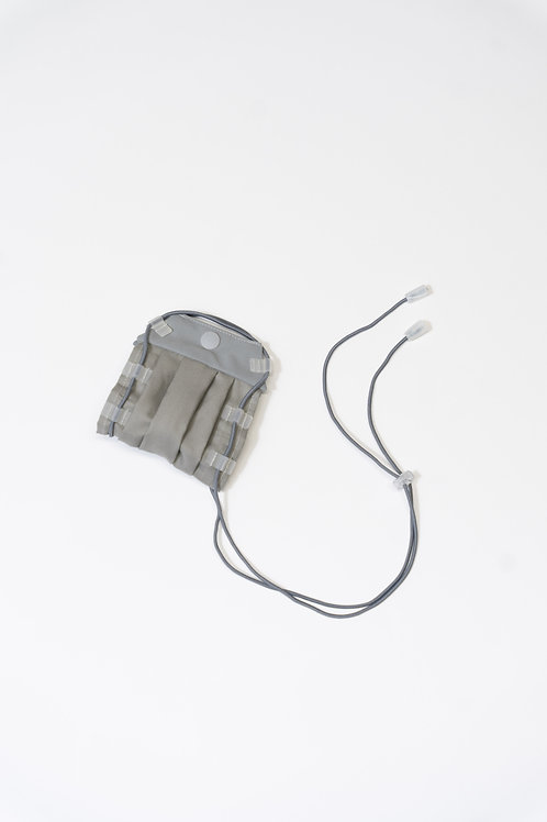 Breathable packable mask (Moon grey)