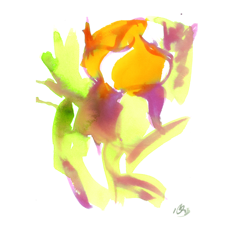 orange flower two