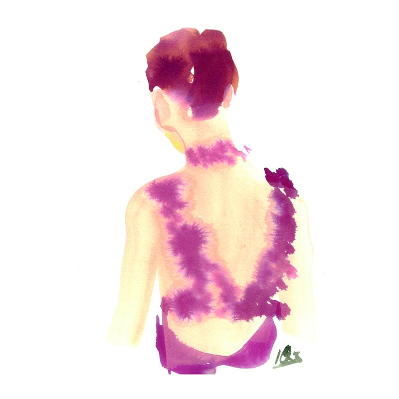 back florial