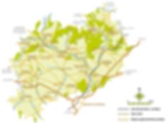Carte Communauté de Communes Coeur du Perche
