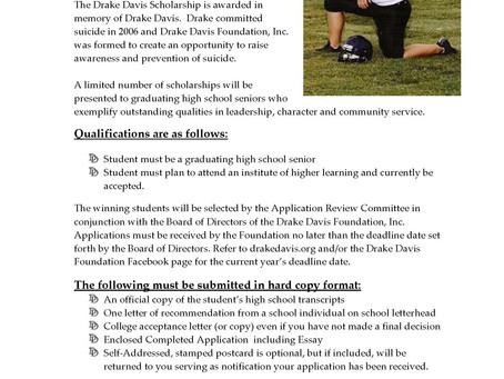 2020 Scholarship Deadline Set