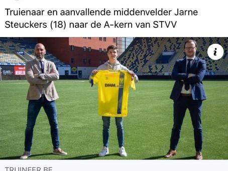 Hasp-O Zepperen - Oud-Leerling Jarne Steuckers in de A-kern van STVV