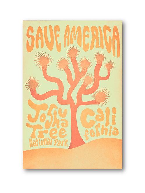 Retro Joshua Tree Poster