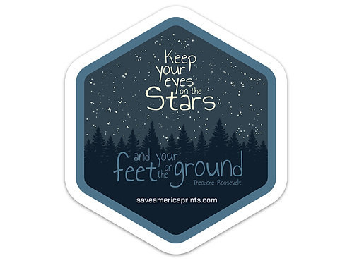 Keep your Eyes On The Stars Sticker