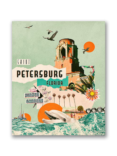 St Petersburg Vintage Travel Poster