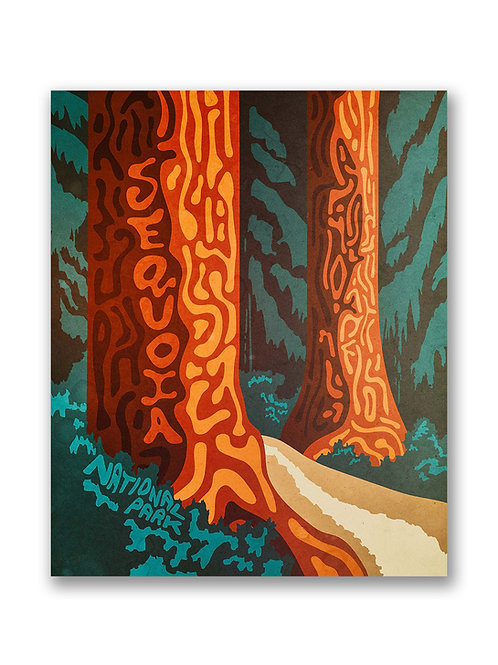 Psychedelic Sequoia Poster
