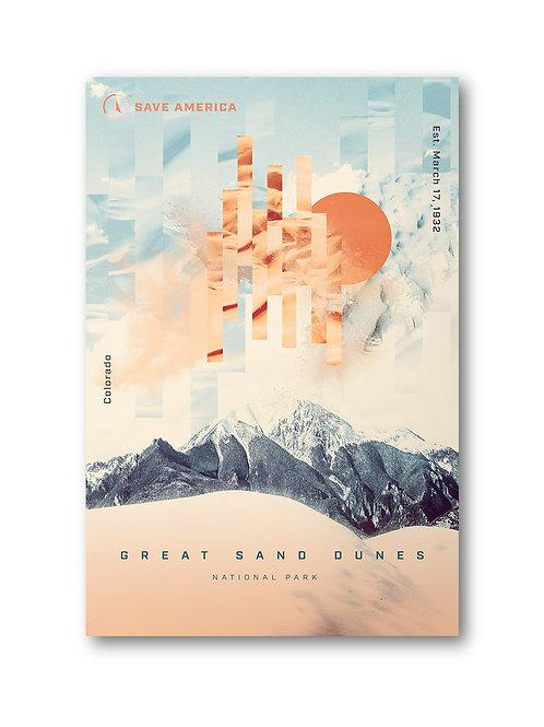 Great Sand Dunes National Park Postcard (10 pack)