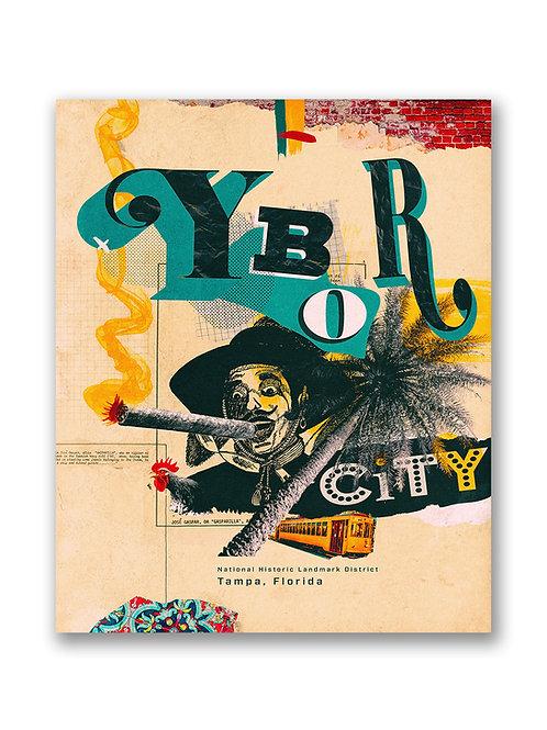 Ybor City Collage Travel Poster