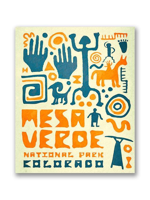 Retro Mesa Verde National Park Print