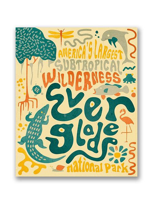 Retro Everglades National Park Print