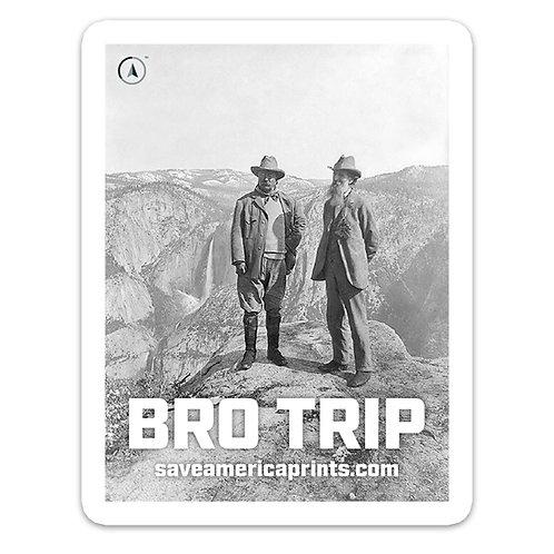 John Muir & Teddy Roosevelt 4×3″ Sticker