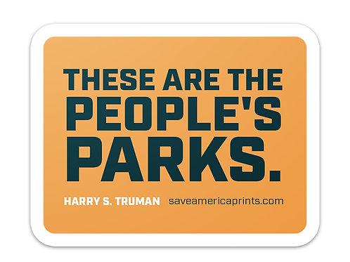 People's Parks 4×3″ Sticker
